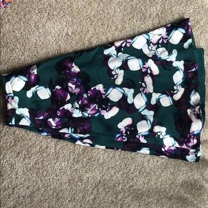 Beautiful, flower patterned A-line skirt